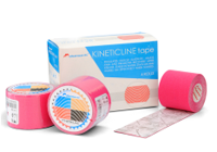 Кинезио тейп Kineticline tape розовый 4 рулона/коробка